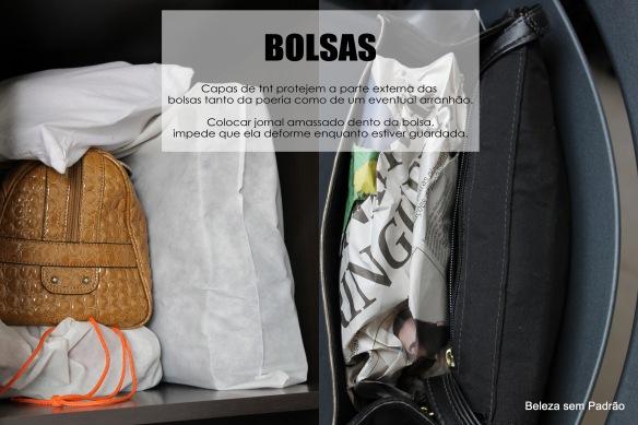Organização do guarda-roupas - Dica de como cuidar das suas Bolsas
